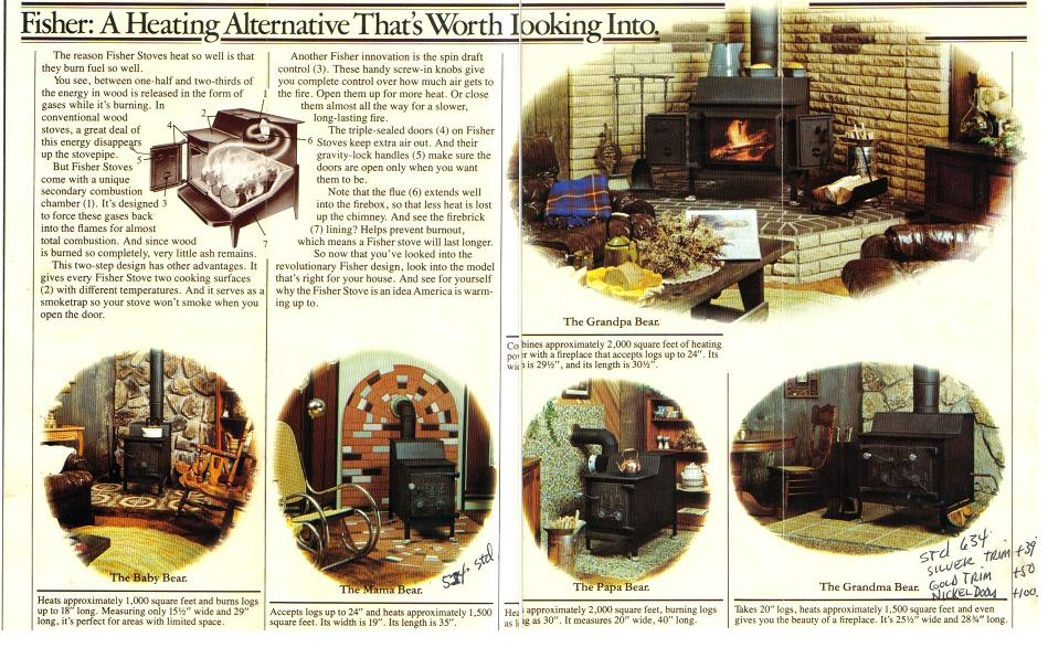 Article about the start of Fisher:  http://hearth.com/images/uploads/fisharticle.jpg. Article in the Eugene, OR  paper about one Fisher Factory leaving the ... - Fisher Stoves Hearth.com Forums Home