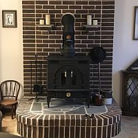 Consolidated Dutchwest Federal Airtight CAT wood stove circa 1985